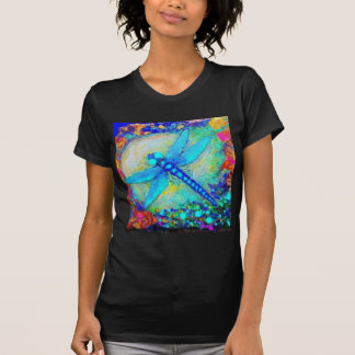 Awesome Blue Dragonfly by Sharles T-shirts