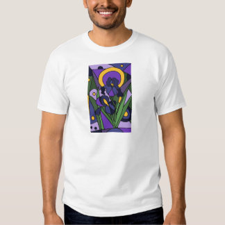 Awesome Blue Iris Floral Abstract Art Shirt