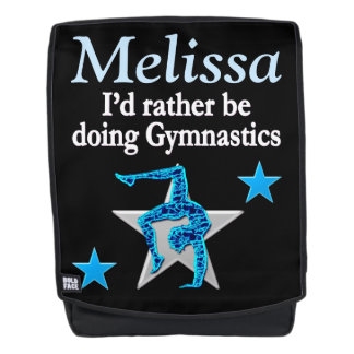 AWESOME BLUE PERSONALIZED GYMNAST BACK PACK