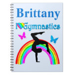 AWESOME BLUE PERSONALIZED GYMNASTICS JOURNAL
