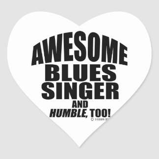 Awesome Blues Singer Stickers