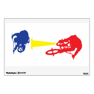 Awesome BMX Bike Jump! (Primary Colors) Wall Sticker
