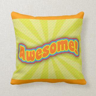 Awesome Bold! Throw Pillows