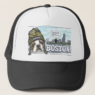 Awesome Boston Fan Black and Gold Cap