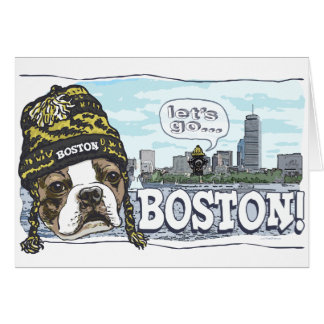 Awesome Boston Fan Black and Gold Cap Card