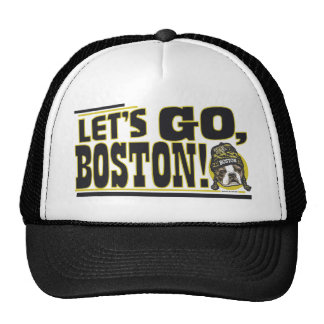 Awesome Boston Fan Black and Gold Cap Trucker Hats