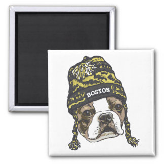 Awesome Boston Fan Black and Gold Cap Magnet