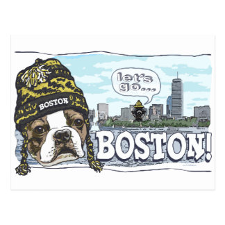 Awesome Boston Fan Black and Gold Cap Post Cards