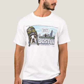 Awesome Boston Fan Black and Gold Cap T-Shirt