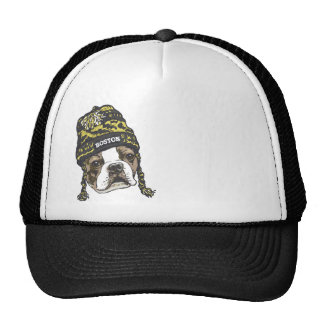 Awesome Boston Fan Black and Gold Cap Trucker Hat