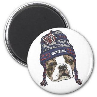 Awesome Boston Fan Blue Cap Magnet