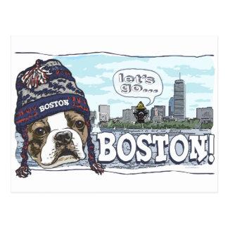 Awesome Boston Fan Blue Cap Postcard