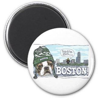 Awesome Boston Fan Green Hat Magnet