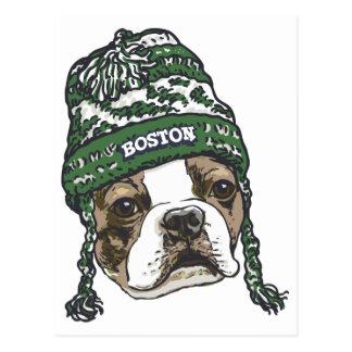 Awesome Boston Fan Green Hat Postcard