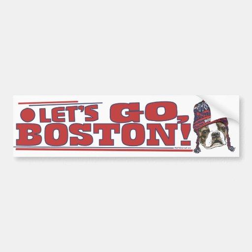 Awesome Boston Fan Red Cap Bumper Sticker