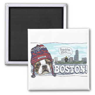 Awesome Boston Fan Red Cap Magnet