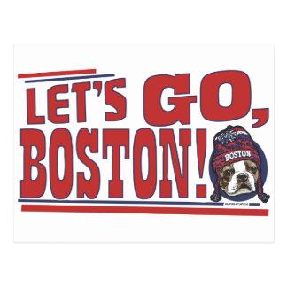 Awesome Boston Fan Red Cap Postcard