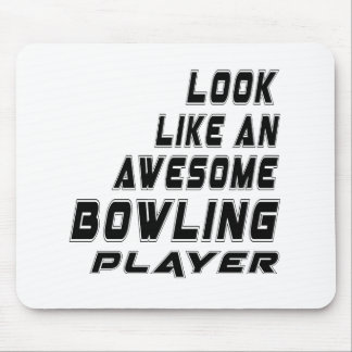 Awesome Bowling Player Mouse Pad