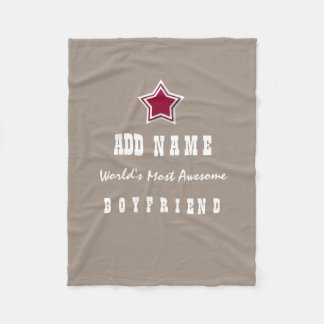 Awesome BOYFRIEND Red Star Sand Background V1A Fleece Blanket
