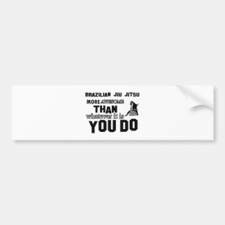 Awesome brazilian jiu jitsu design bumper sticker