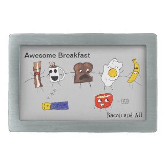 Awesome Breakfast, Bacon and All Rectangular Belt Buckles