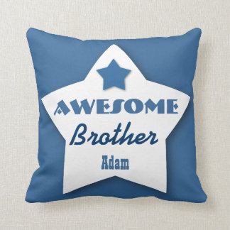 Awesome BROTHER Big Heart Custom BLUE 5 Throw Pillow