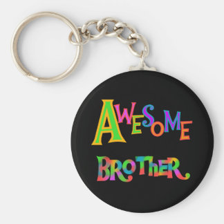 Awesome Brother T-shirts and Gifts Basic Round Button Keychain