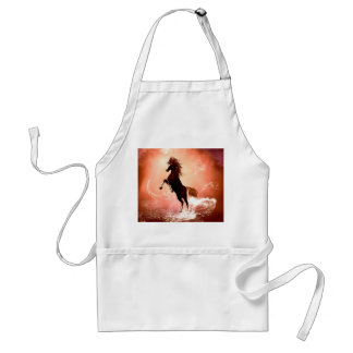 Awesome brown horse adult apron