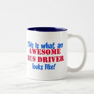 Awesome Bus Driver Two-Tone Coffee Mug