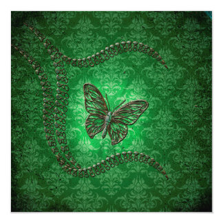 Awesome butterflies made of diamond invitation