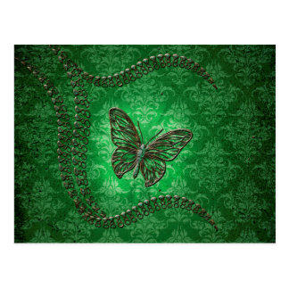 Awesome butterflies made of diamond postcard