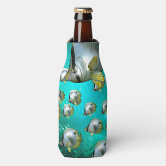 Awesome butterfly fish bottle cooler