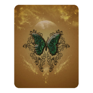 Awesome butterfly made of diamond 4.25x5.5 paper invitation card