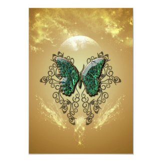 Awesome butterfly made of diamond 5x7 paper invitation card