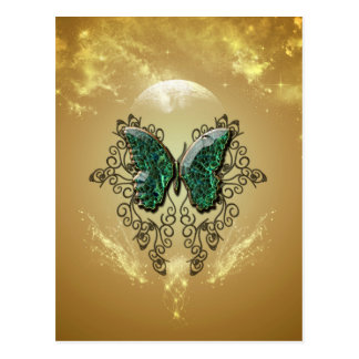 Awesome butterfly made of diamond postcard