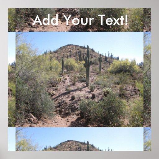 Awesome Cactus Garden Poster