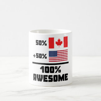 Awesome Canadian American Coffee Mug