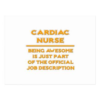 Awesome Cardiac Nurse ..  Job Description Postcard