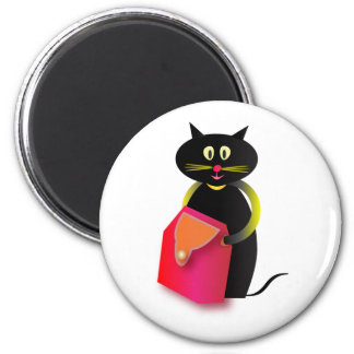 Awesome cats 2 inch round magnet