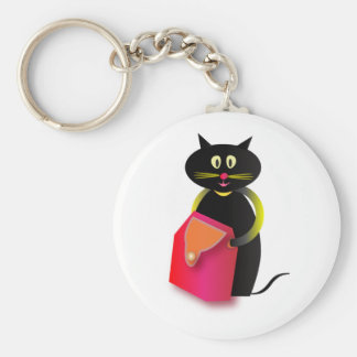 Awesome cats basic round button keychain