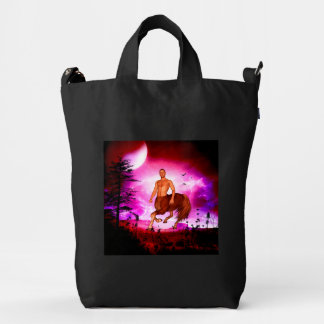 Awesome centaur in the night duck bag
