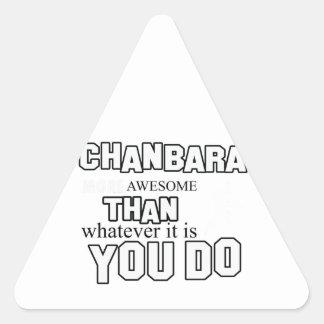 Awesome chanbara  designs triangle sticker