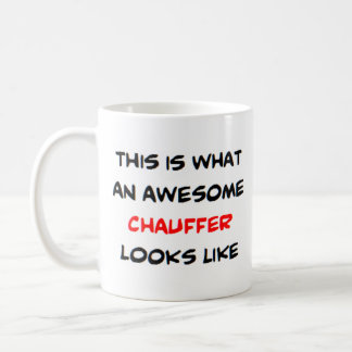 awesome chauffer coffee mug