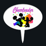 """AWESOME CHEERLEADER MEGAPHONE DESIGN CAKE TOPPER<br><div class=""""desc"""">Cheerleading is my life! Be proud of your fantastic cheerleading skills and routines with this awesome rainbow colored megaphone design on Cheerleading Tees, Apparel, Jewelry, Wall Decor and Gifts. Delight your talented Cheerleader with this fantastic Cheering design to inspire and encourage her to always go out and do her best....</div>"""