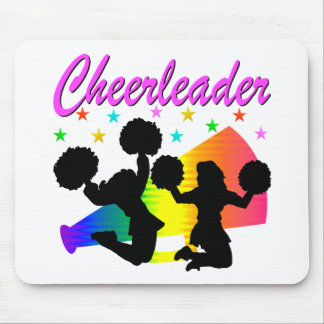 AWESOME CHEERLEADER MEGAPHONE DESIGN MOUSE PAD