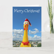 Awesome Chicken Christmas Card! Holiday Card