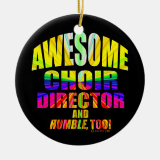Awesome Choir Director Starburst Double-Sided Ceramic Round Christmas Ornament