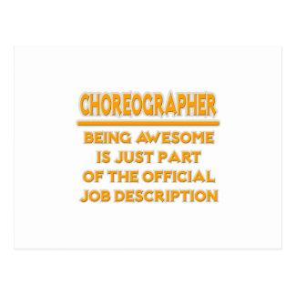 Awesome Choreographer .. Job Description Postcard