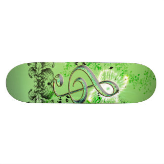Awesome clef  with birds skateboard deck
