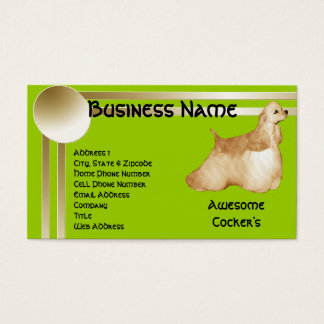 Awesome Cockers Spaniel Business Card